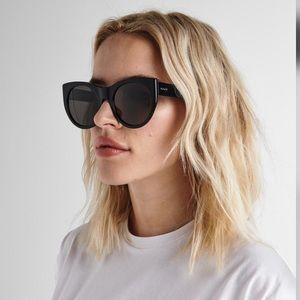Raen Durante cat eye black sunglasses